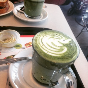 Green Tea Latte at Aroma Espresso Bar